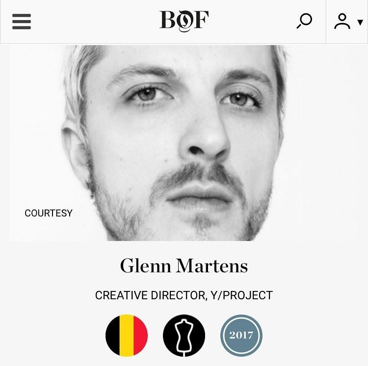 BoF 500- Glenn Martens