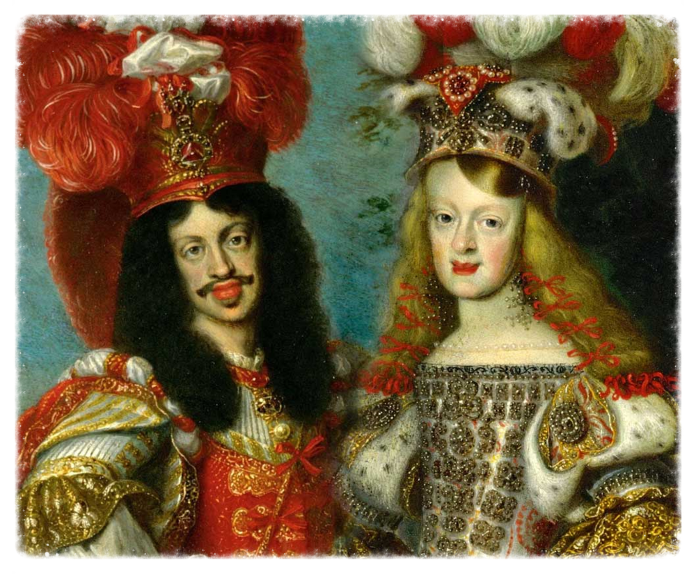 Leopold I and Margarita Teresa. Holy Roman Emperor & Empress. Husband and Wife. First Cousins.  Uncle and Niece! (Ewww...)  Genetic time bomb.