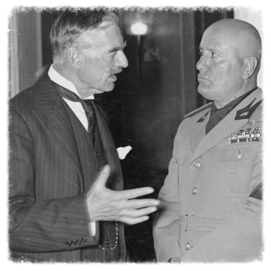 Chamberlain and Mussolini