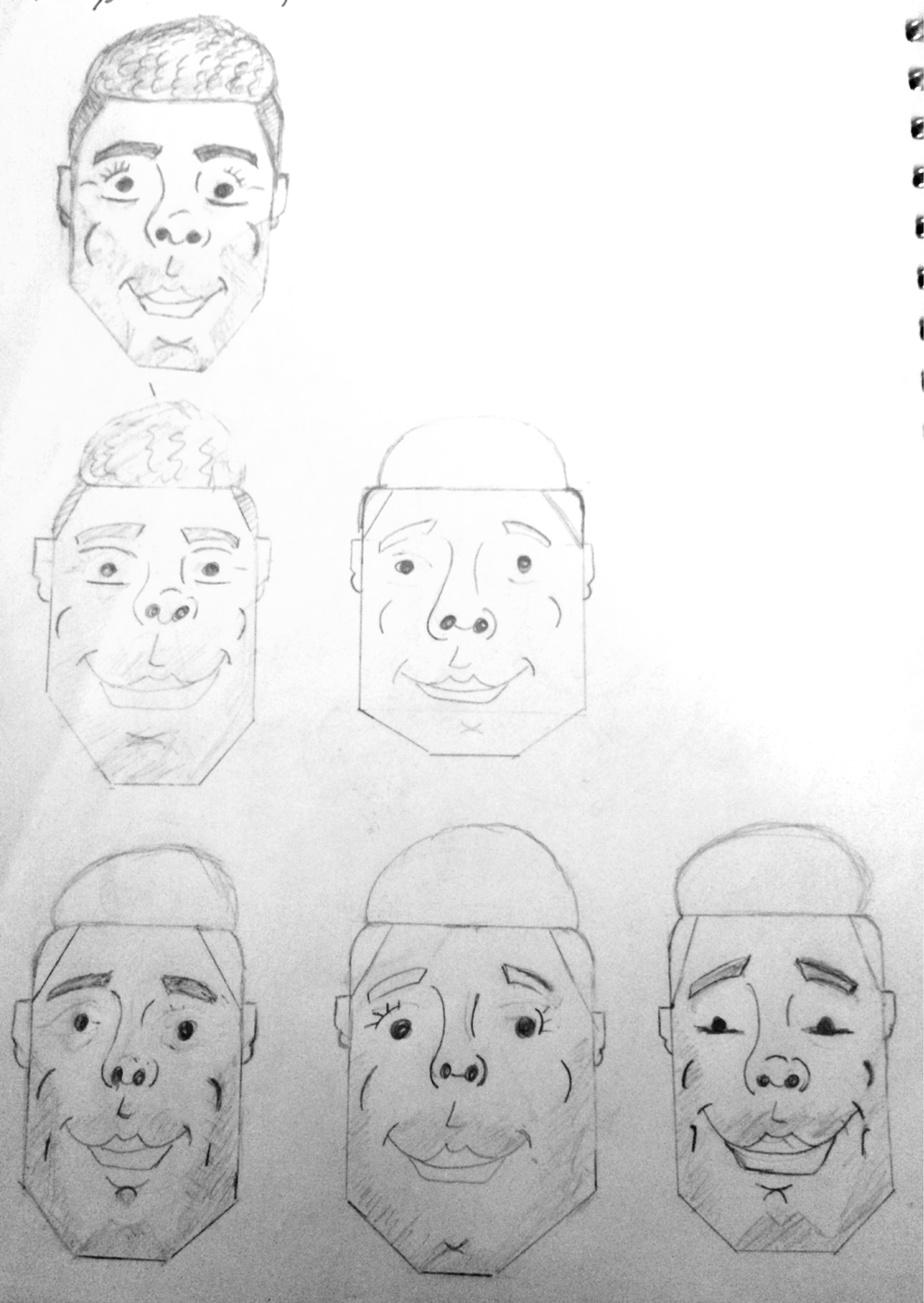 I started sketching a variety of would-be avatars, each considering variations on the rules I stuck with and considering areas of enhancement.