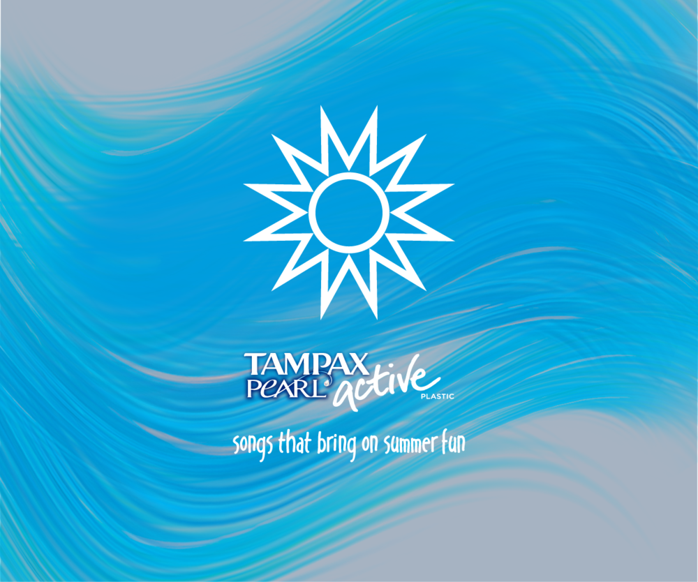 8tracks x Tampax brand/identity, visual design