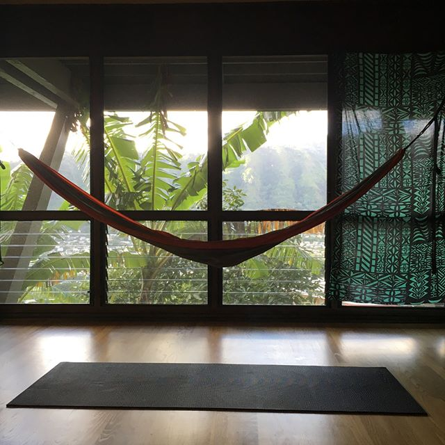 I'm  currently stretched out in this hammock and having a beer. This is our living room and my all time favorite spot in the apartment. #Yoga and stretching in the am and nap time in the afternoons, couldn't ask for much more.  I've got Ballast Point Dead Ringer to help me wait for the sunset. #sundayafternoon #hawaii