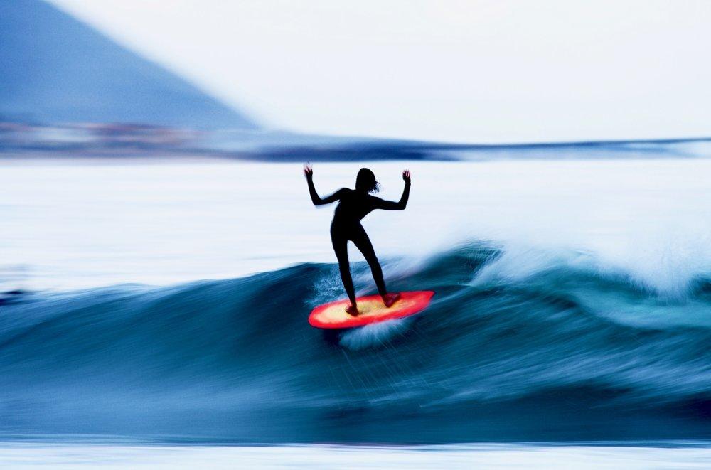 Morgans slow shutter work has inspired many aspiring surf photographers