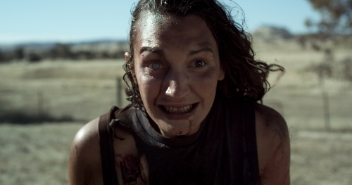Sarah Ranken as one of the infected in PLAGUE