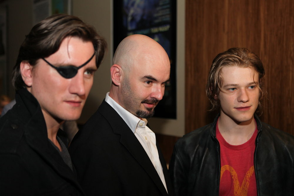 Left to right: Jason Trost, Dean Bertam (festival director) and Lucas Till at Fantastic Planet Film Festival 2013