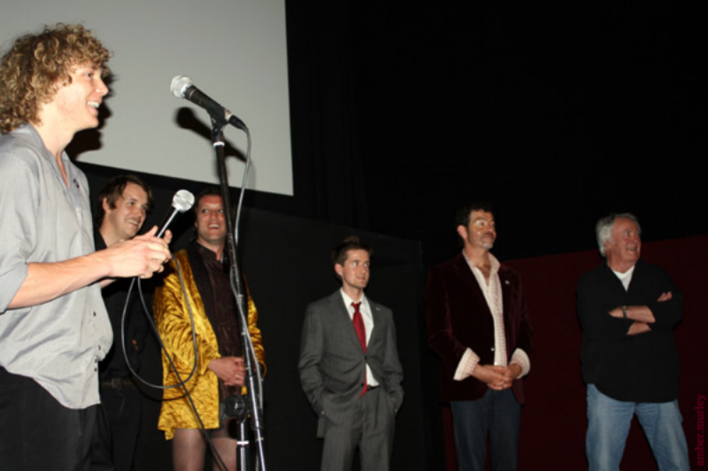 Eraser Head cast and crew (Left to Right: Adrian Kristoffersen, Nathan Christoffel, Jonathan Welsby, Rob Alec, Shane Nagle and Peter Stratford) at Fantastic Planet 2009