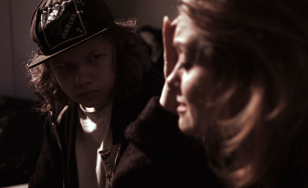 Lucas Koch (Zack) with his on-screen mother Nicolette le Faye (Sandy)