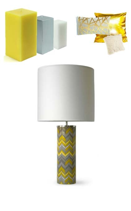"ND Tip:   Pull colors from bold graphics like this lamp by icon Jonathan Adler, and get inspired to liven up your space.      CARNABY FLAME LAMP    $295       Bold patterns on a posh lamp.   Our Carnaby lighting is made from high-fired porcelain with polished nickel accents and a handmade paper shade. Grab a lamp for an illuminating pop of color for your console or side table or grab a pair for the night tables.      • high-fired porcelain with a high gloss glaze   • diffuser included   • one 150 watt max bulb, 3-way switch       base: 5"" wide and 15"" high, total height 31"