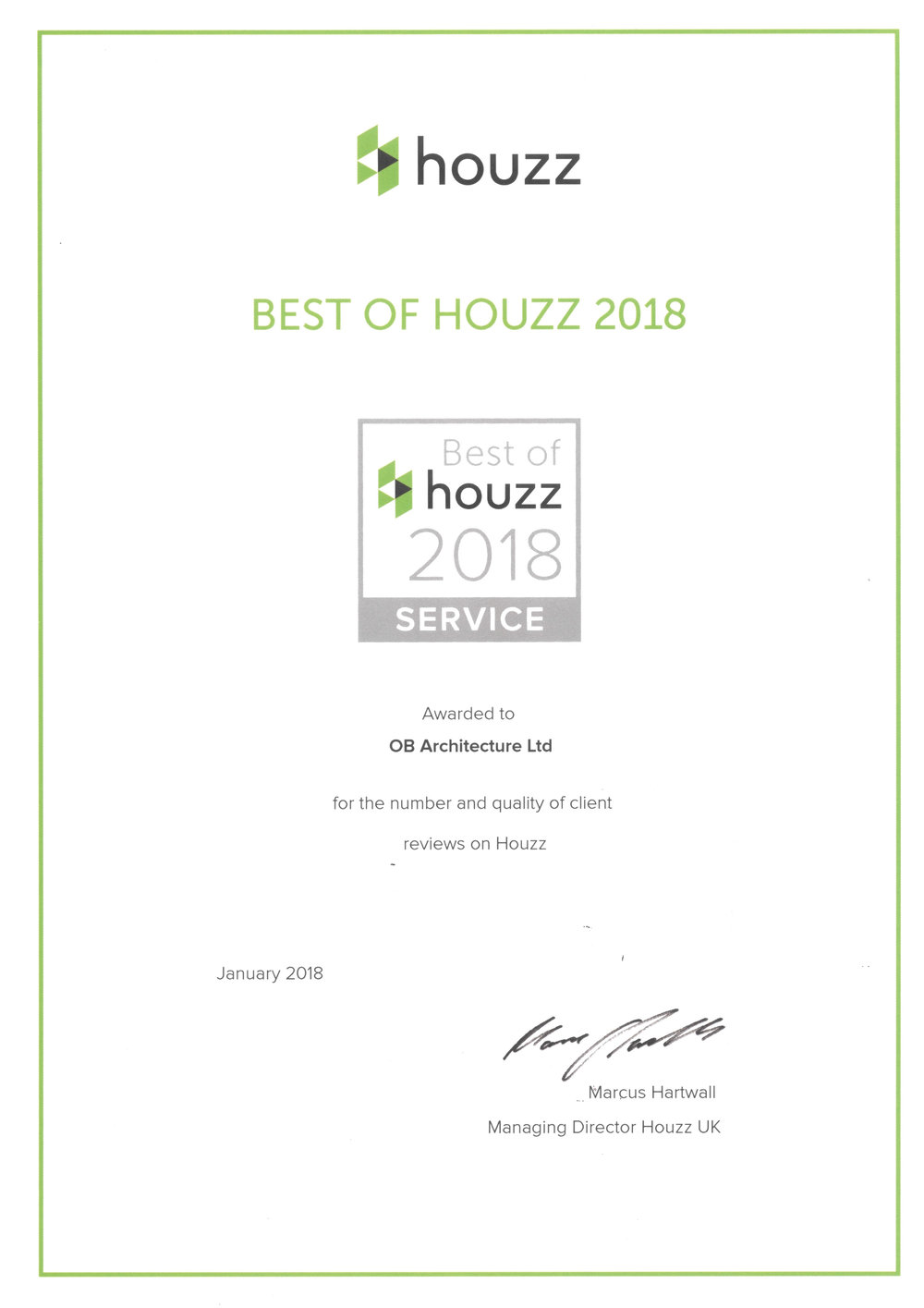 Best of Houzz 2018_Service