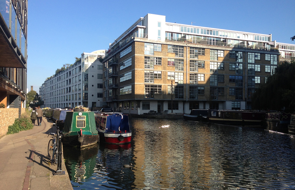 15 minutes walk along the canal from Angel tube station Photograph: The Royle Building on corner of Wenlock Basin and The Grand Union Canal