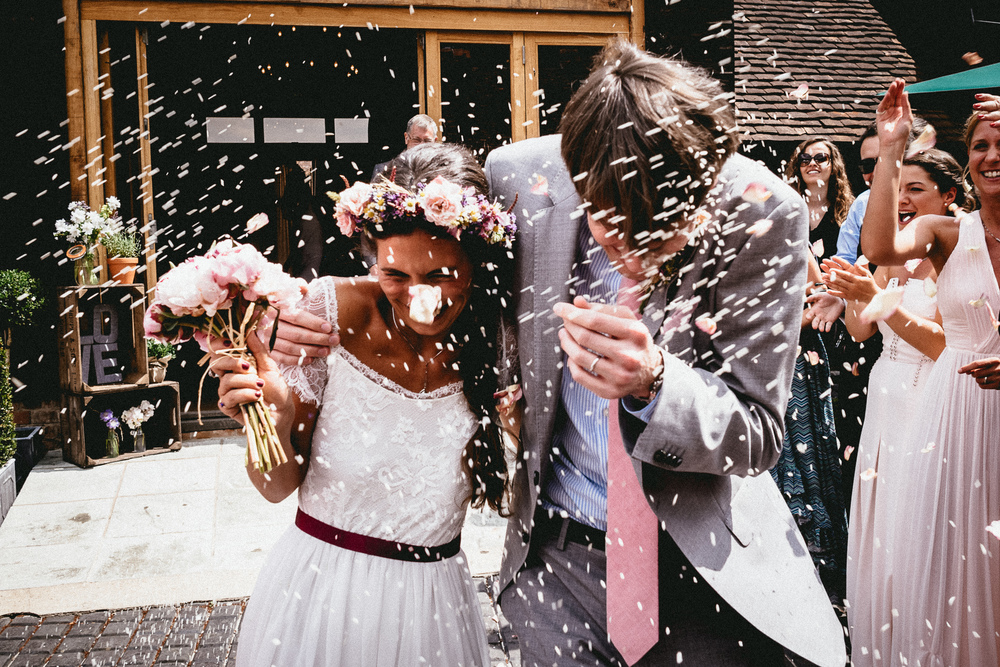 Confetti Exit from Ceremony | Berkshire Wedding Planner