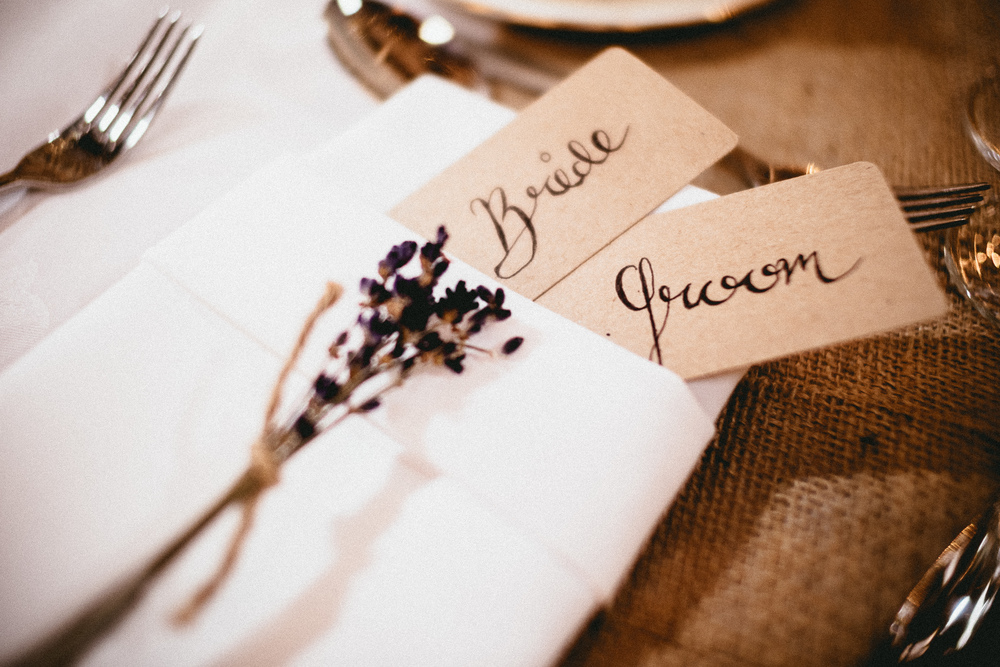 Lavender Place Setting | Berkshire Wedding Planner