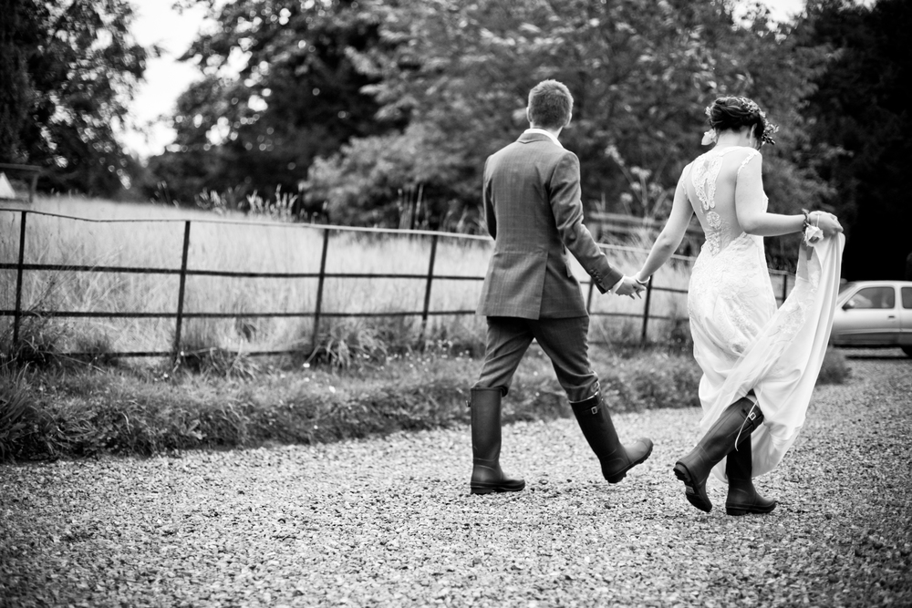 Bridal Couple at Pennard House | Somerset Wedding Planner