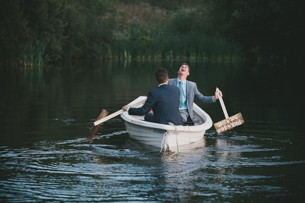 Rowing Boat Groomsmen | Cotswolds Wedding Planner