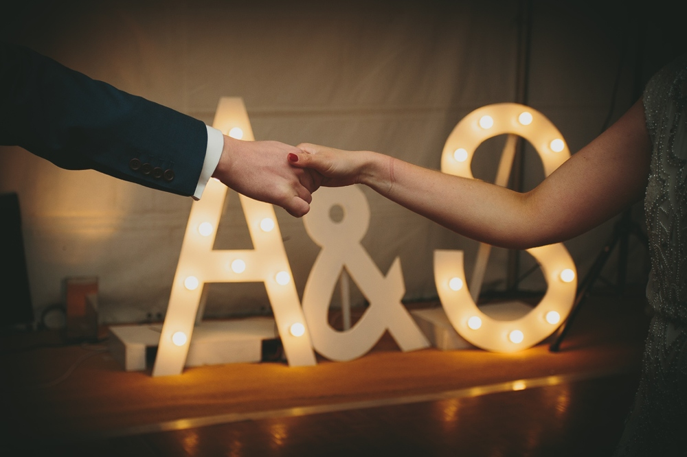 Giant Marquee Letters | Cotswolds Wedding Planner