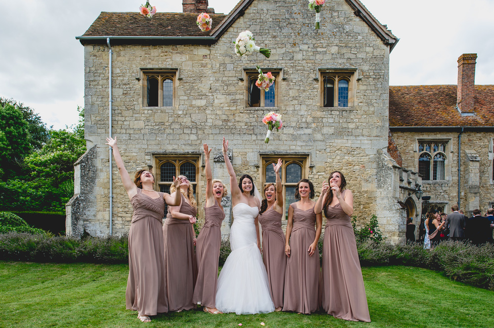 Notley Abbey Bride and her maids
