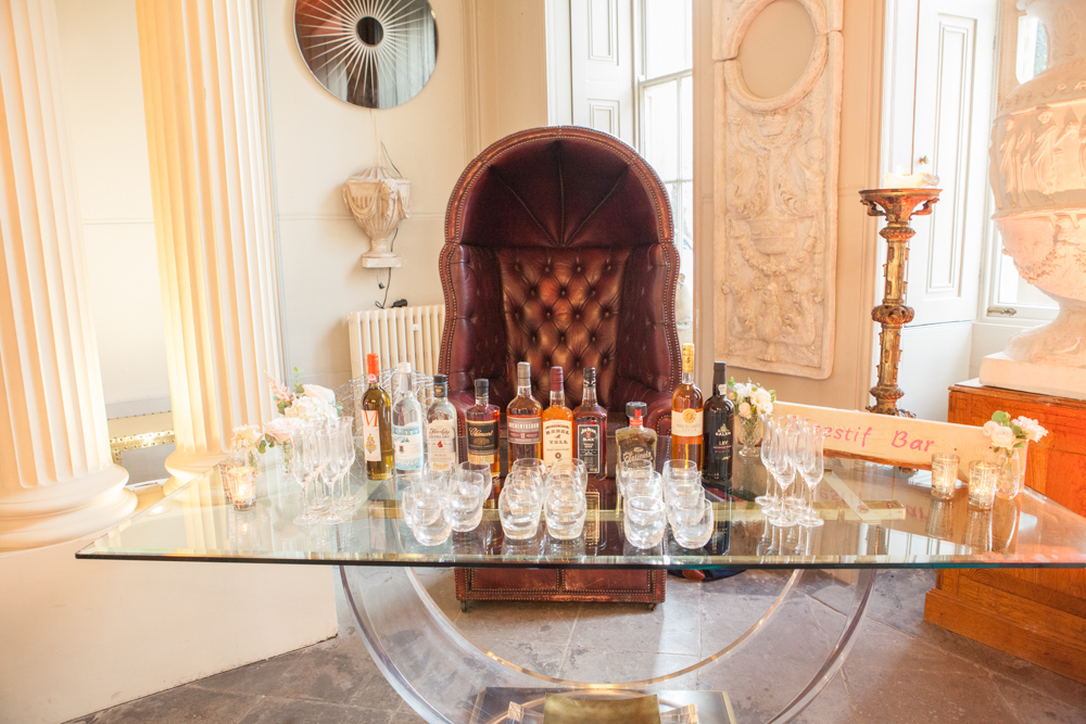 Digestif Bar by Vanilla Rose Weddings                            Image Credit: Judi Checketts Photography