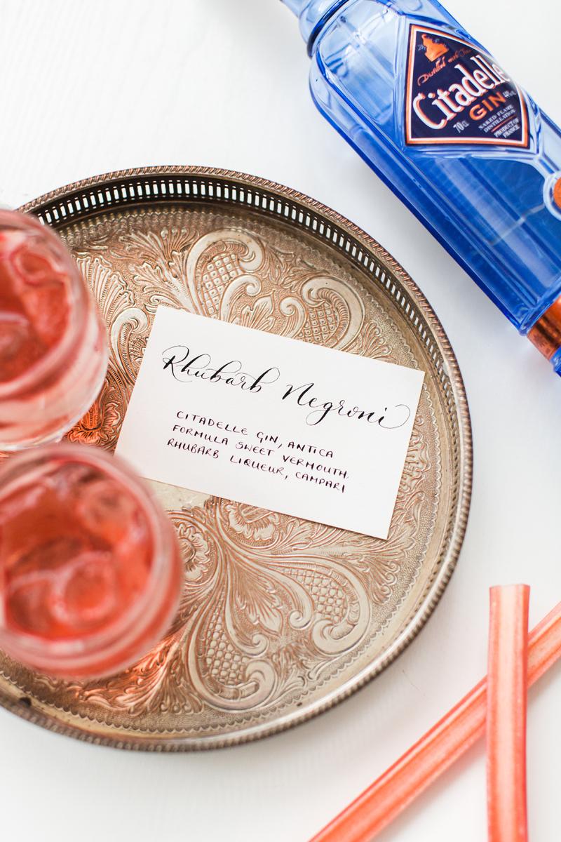 Rhubarb Negroni Recipe