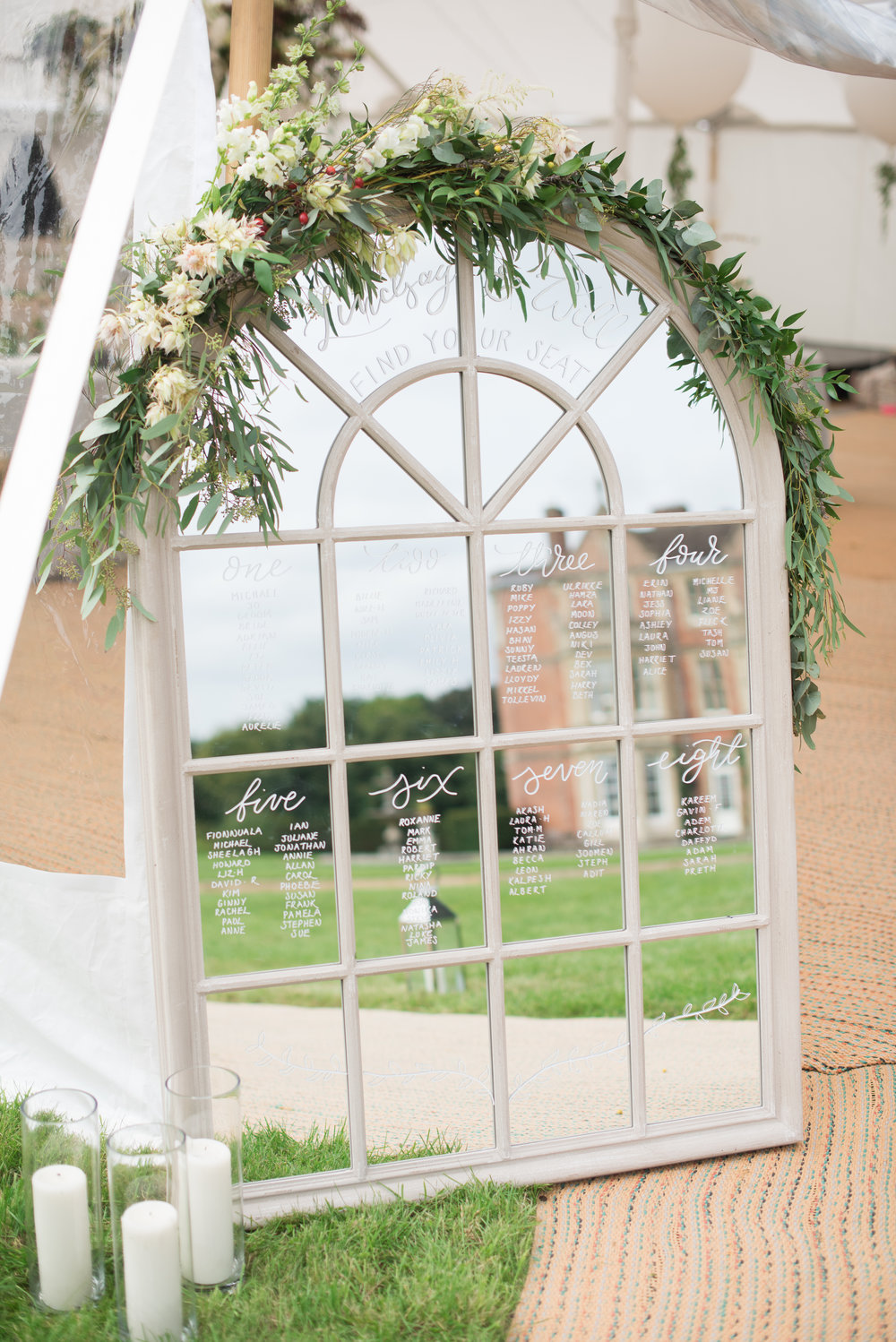 Large window style mirror to hire weddings oxfordshire berkshire