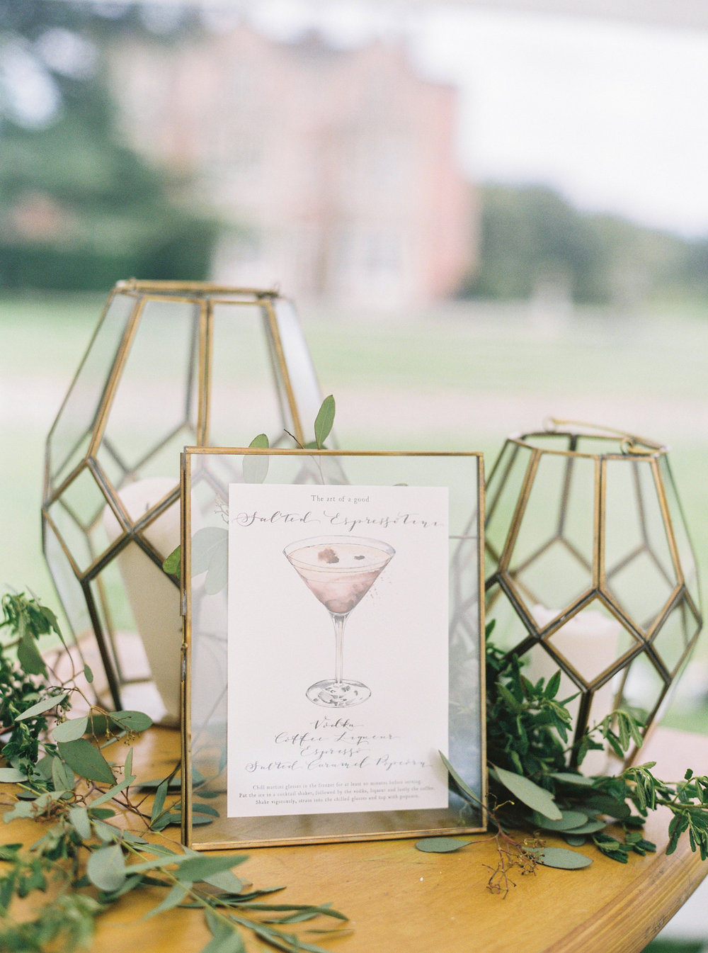 Nkuku Brass Frames Wedding Hire Oxfordshire