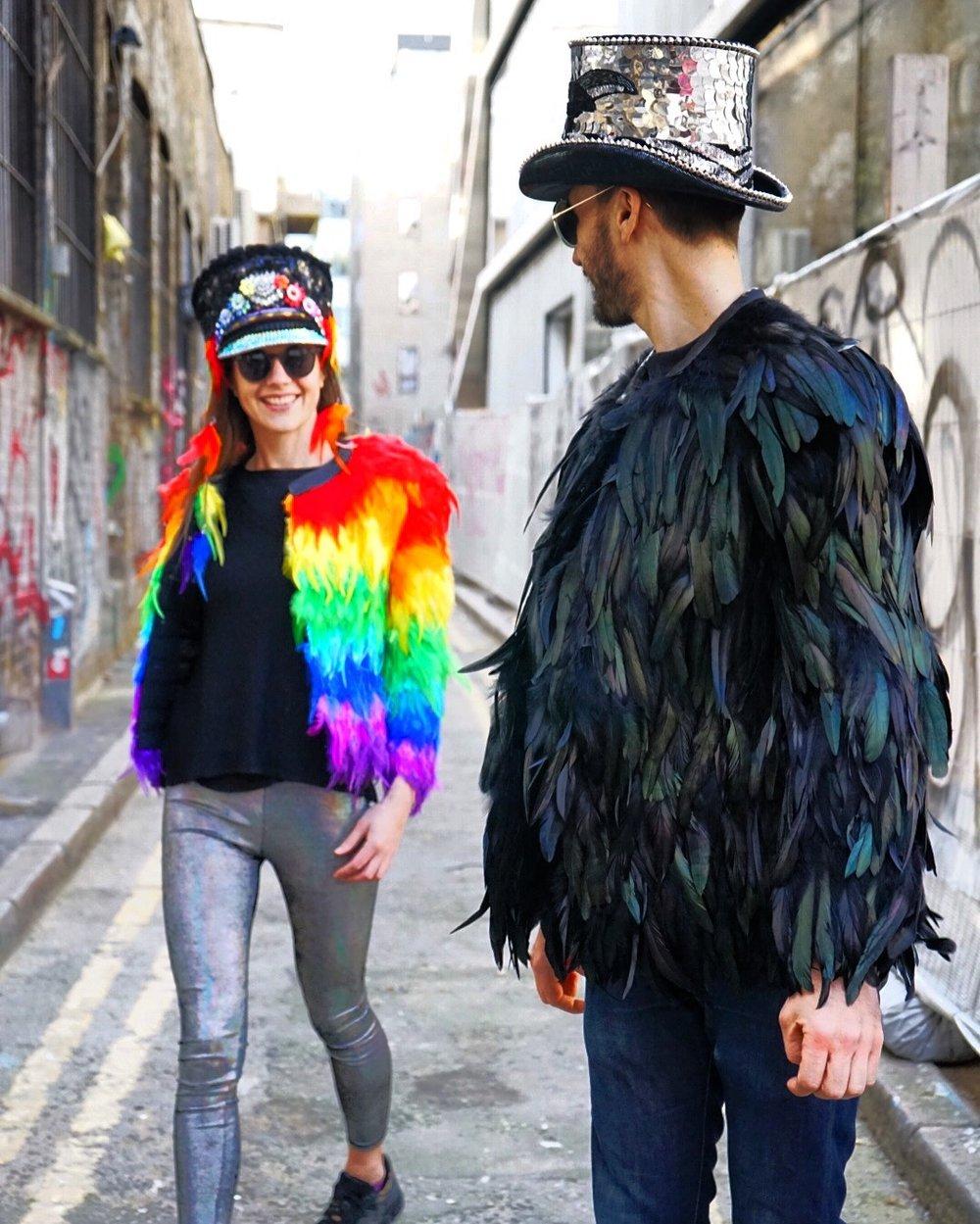 Love Khaos Bespoke Feather Coats