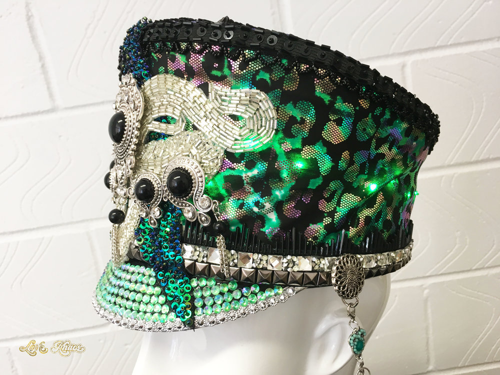 Love Khaos Leopard Mafia Hat with LED Lights