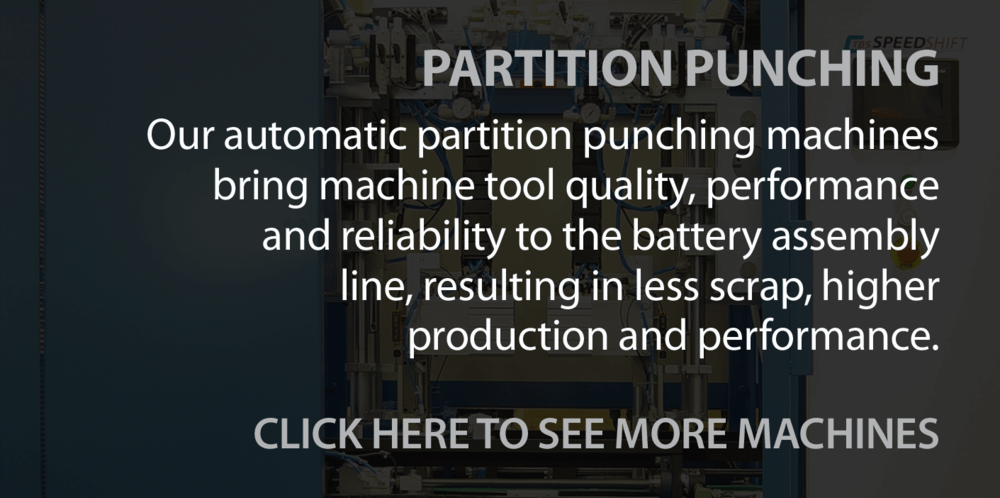 PARTITION PUNCH MAIN TITLE FROM ASSEMBLY EQUIPMENT
