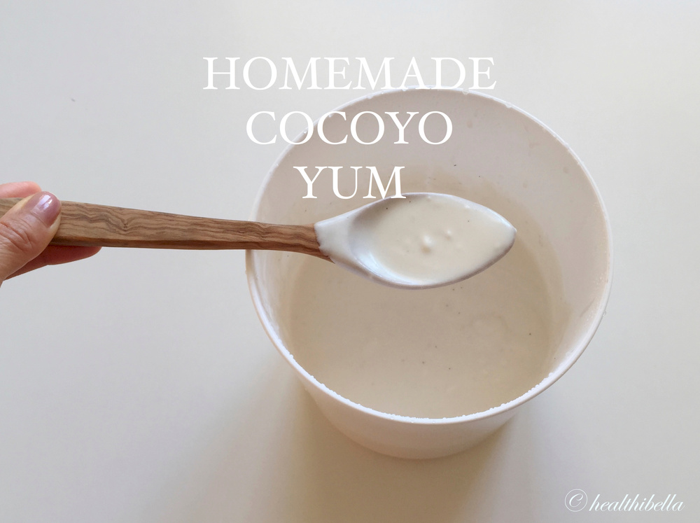 This is the coco yogurt on day 1 and it will thicken over the next three days in the refrigerator.