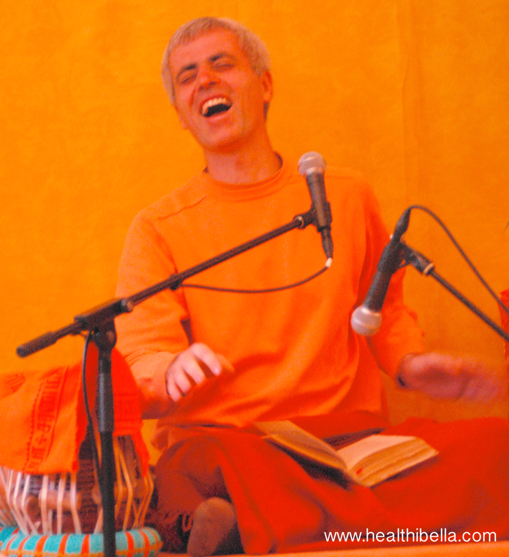 My master teacher Swami Sivadasananda shining bright with his booming laugh.