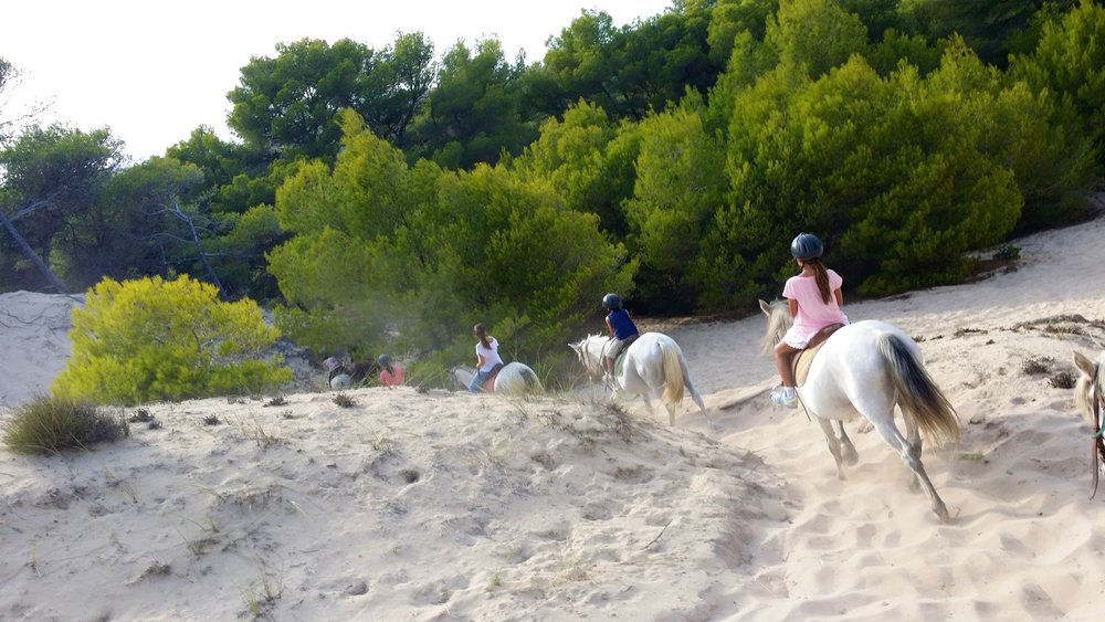 Horseback in the Dunes, Playa Cala de Sa Mesquida