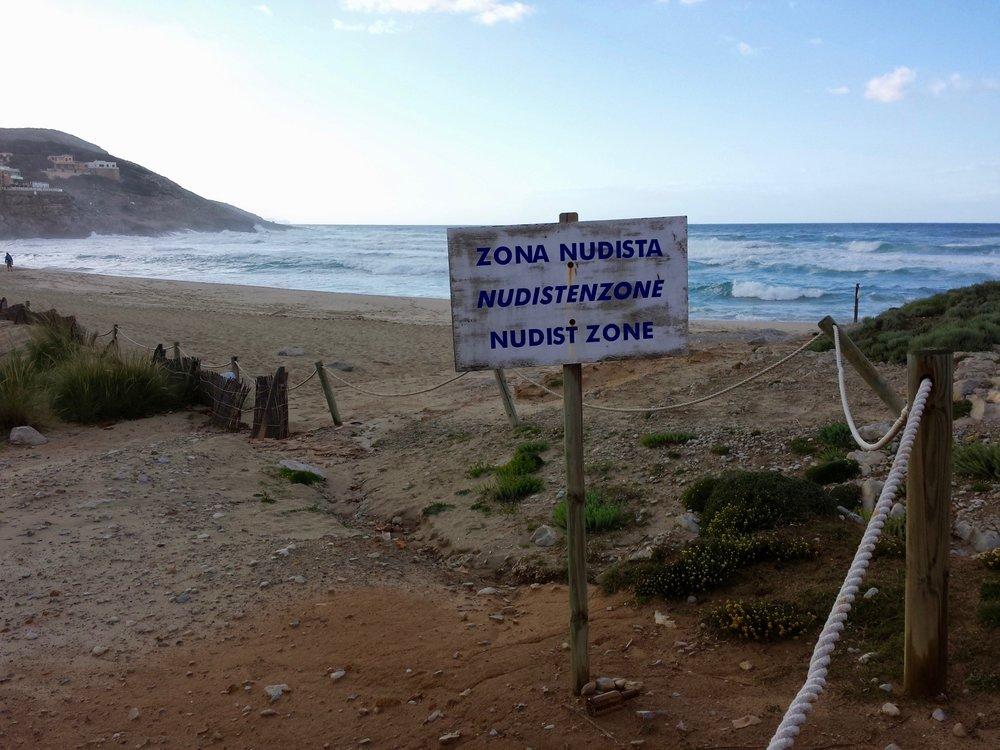 Nudist Zone, Playa Cala de Sa Mesquida