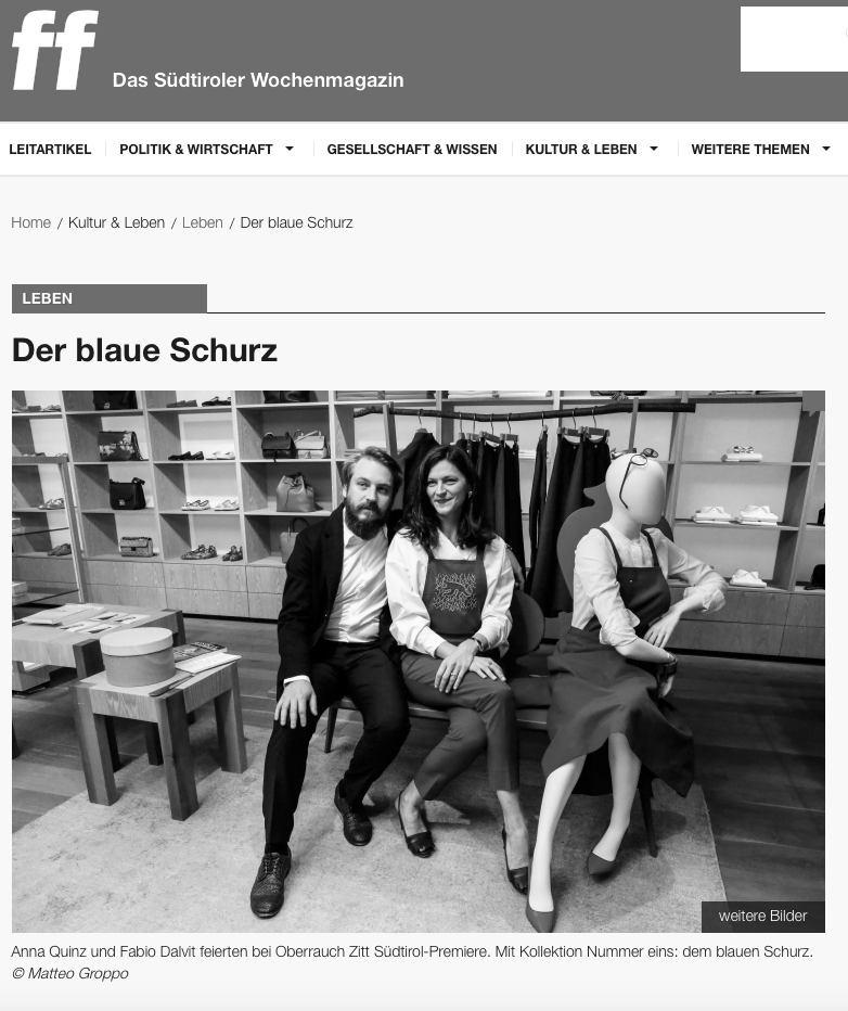 FF Das Südtiroler Wochenmagazin (online) - 18.05.2017