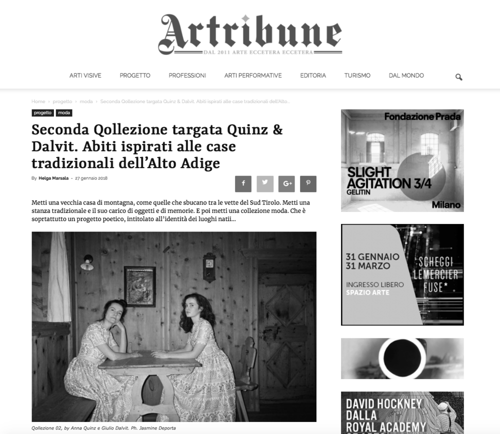 Artribune  - 27.01.2018