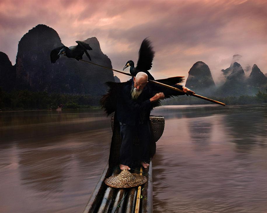 Crane Fisherman