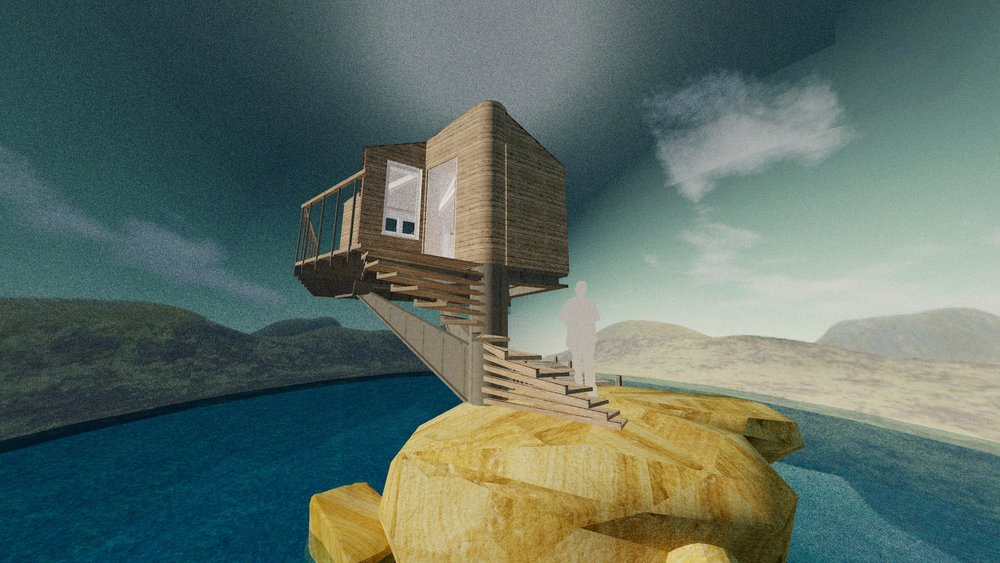 #1 The Lifeguard Retreat - Inspired by lifeguard huts, but also taking a leaf out of treehouses, this design is a little crazy!