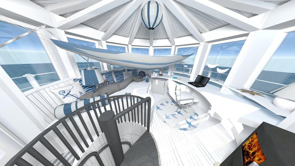Upper floor with hammock and man.jpg