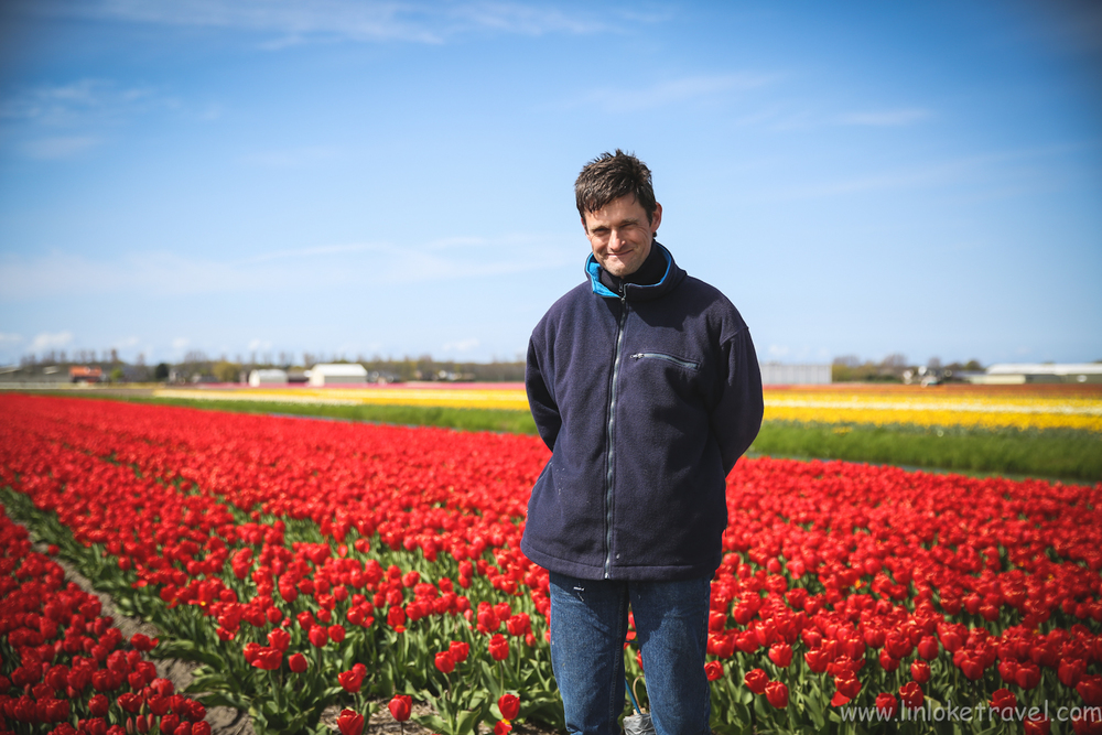 Peter, the owner of the tulip farm that we visited.