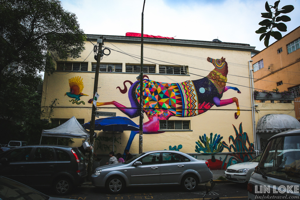 Street art in the Condesa/ Roma neighbourhood
