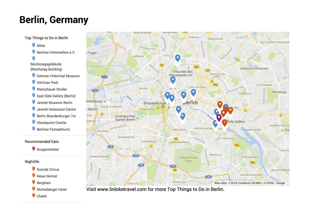 Scroll to the bottom for the link to access my Berlin Google My Map