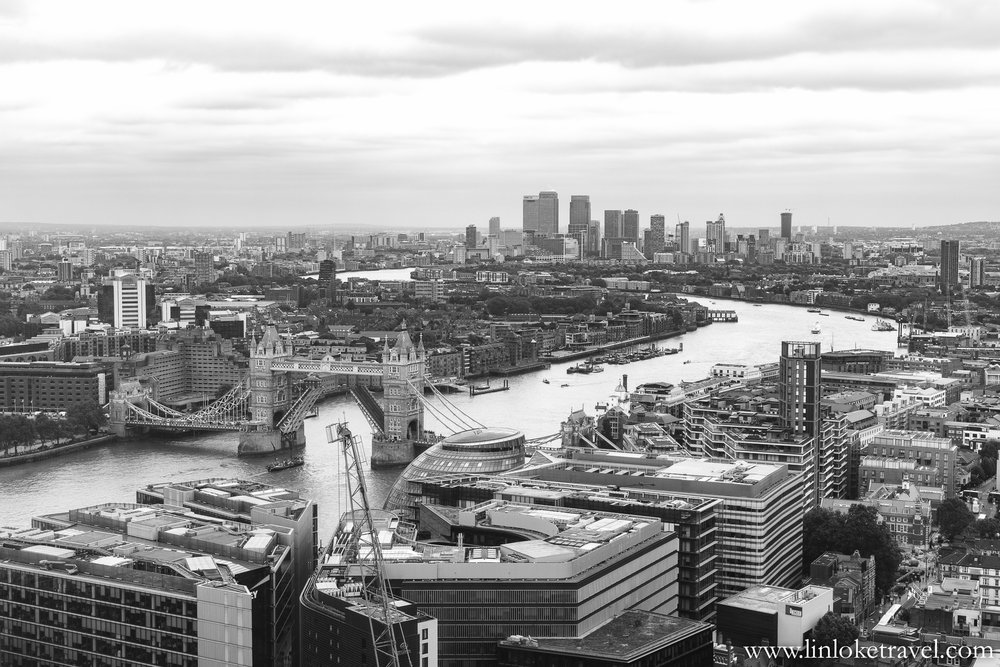 View from the Shard, towards East London.