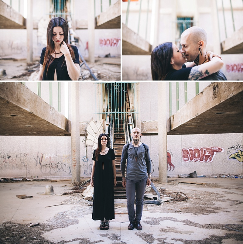 Phoenix Arizona Goth Industrial Wedding Anniversary Photos by Jamie Allio