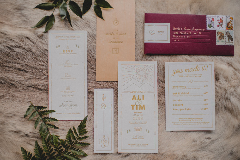Skirven & croft invitations