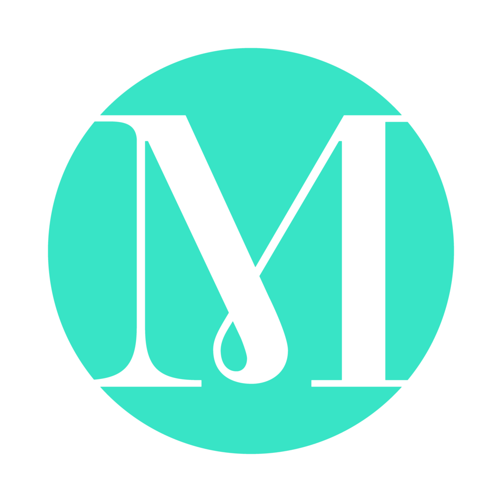 "Menagerie wedding showcase ""m"" logo"