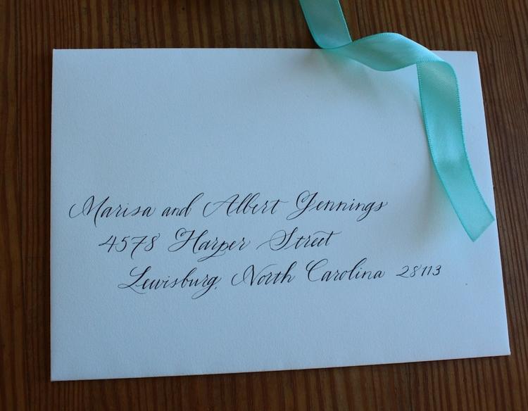 Abby Farson Pratt Wedding Calligraphy modern married couple
