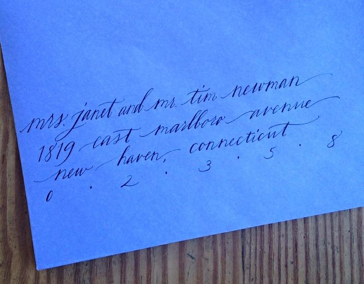 Abby Farson Pratt Wedding Calligraphy married same surname