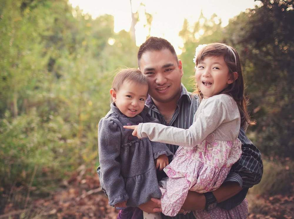 david do with two children
