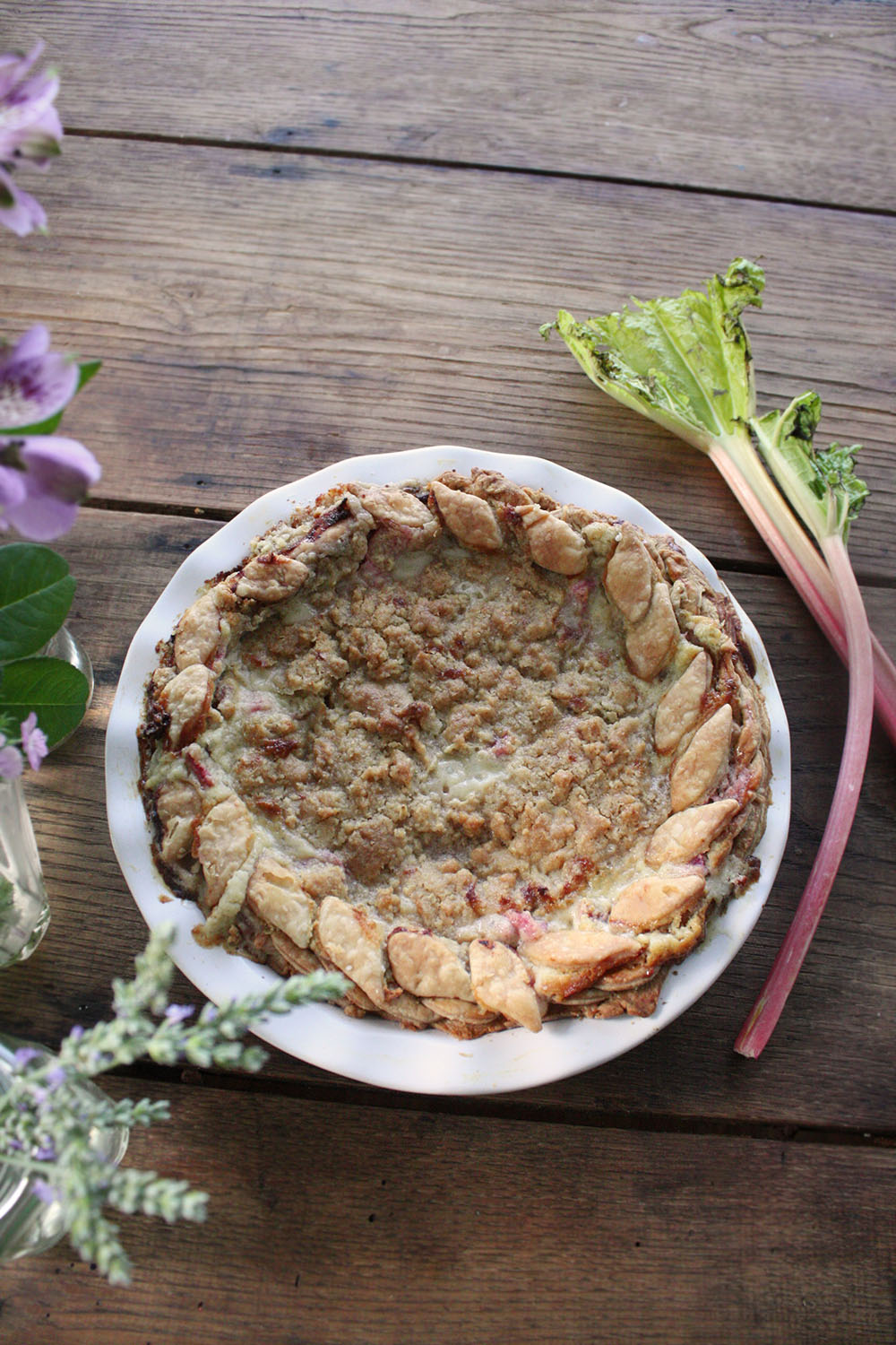 Arley Cakes rhubarb pie