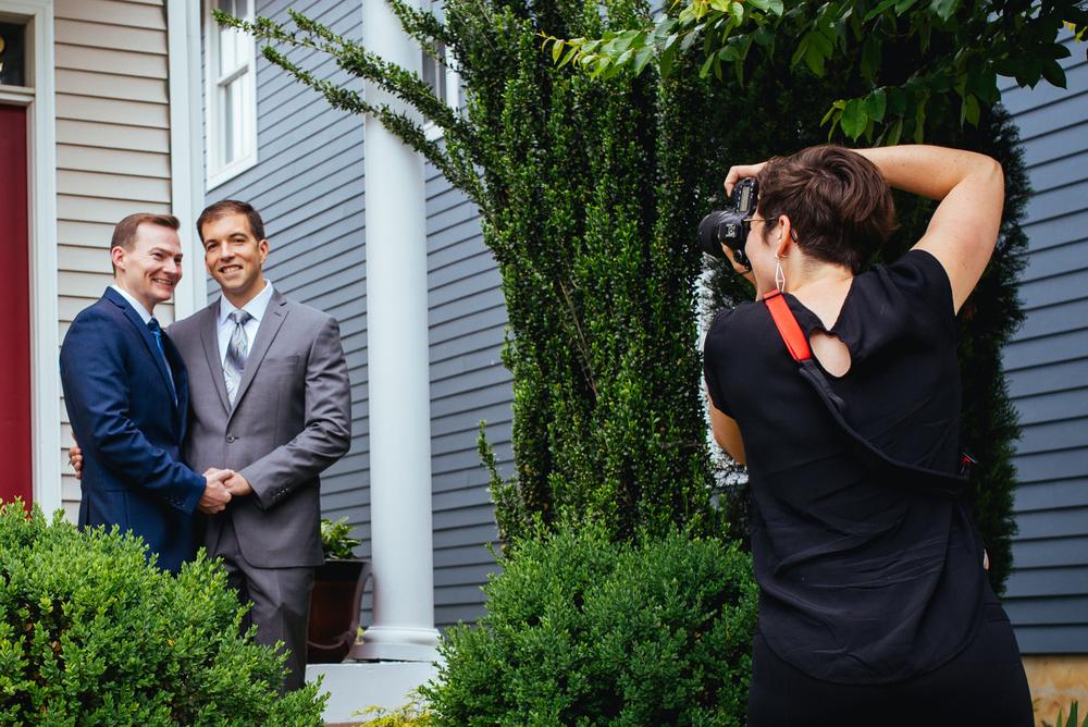 A Lovely Photo Wedding Photography shawnee taking photo of couple