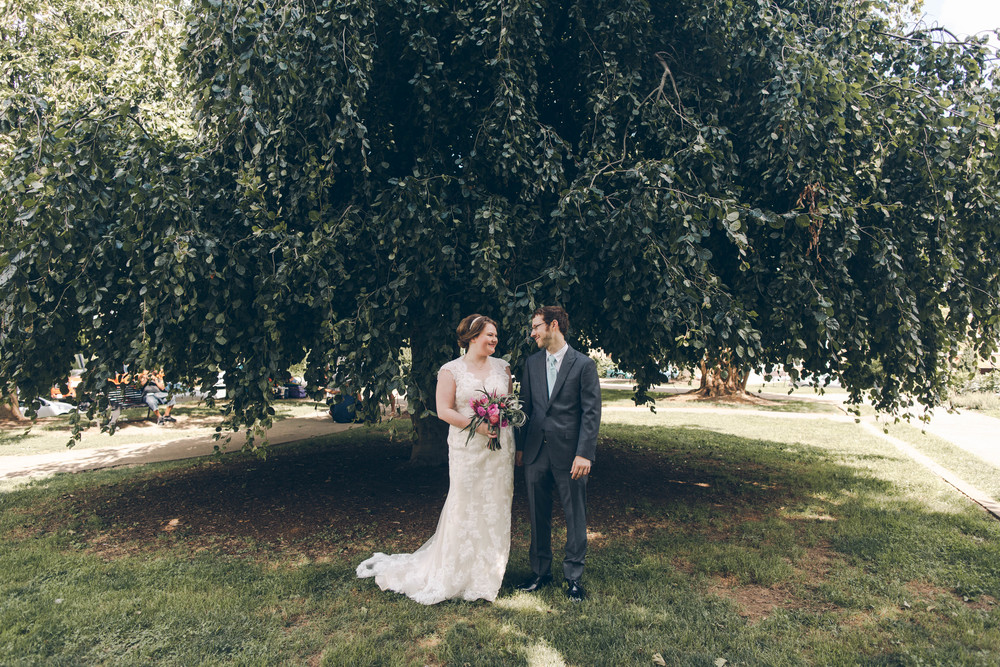Betty Clicker Wedding Photography couple under tree