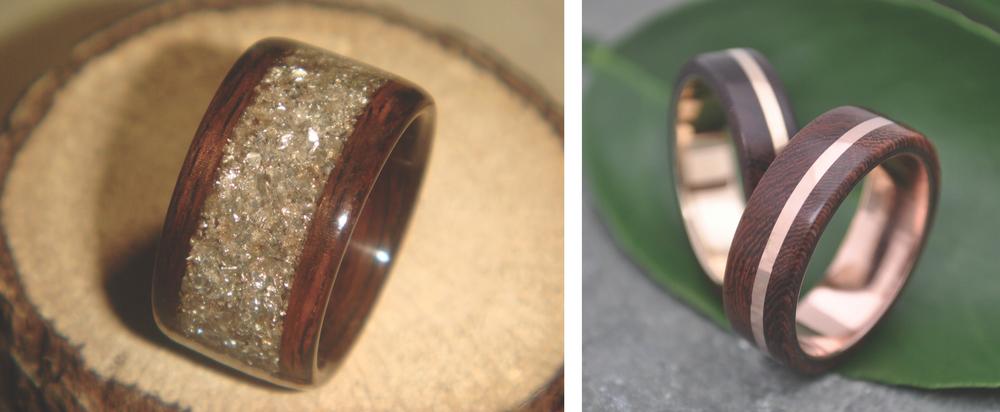 Rings by Bentwood Jewelry & Naturaleza Organic Jewelry